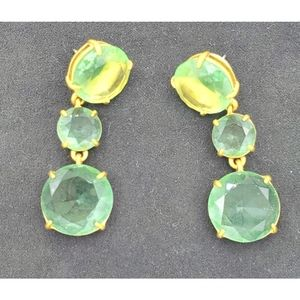 J Crew Triple Gemstone Earrings